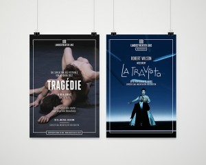 Plakatgestaltung Landestheater Linz